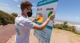Se roban los imanes del cartel que indica el aforo en las playas de La Costa
