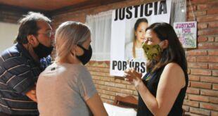 La Ministra Estela Díaz se reunió con la familia de Úrsula Bahillo en Rojas