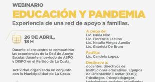 La Costa | El equipo de la Red de Apoyo para la Escuela brindará un webinario en la UAA