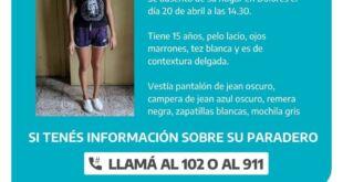 Buscan intensamente a Camila, una joven desaparecida en Dolores