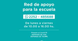 Sigue en funcionamiento la red de apoyo para la escuela en La Costa