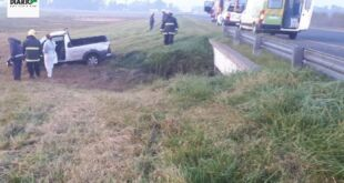 Accidente fatal en el Km. 298 de la Ruta 2