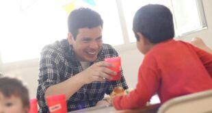 Cristian Cardozo visitó los Centros de Primera Infancia