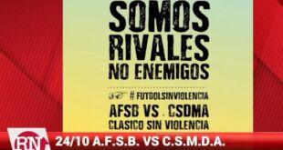 Somos rivales no enemigos, ASFSB lanza una campaña para la no violencia en el clásico